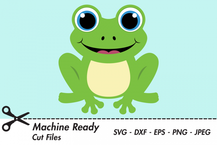 Cute Frog SVG Cut Files, Woodland Pond Animal