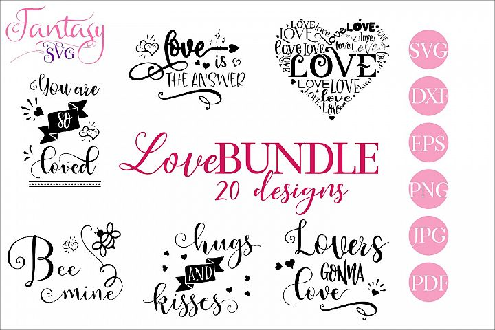Love BUNDLE - svg cut files