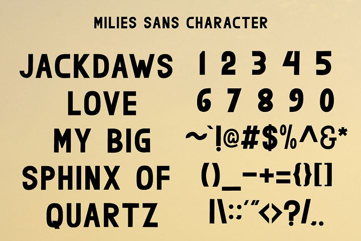 milies | an elegant font duo example image 5