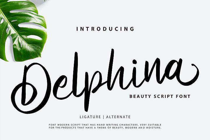 Delphina | Beauty Script Font