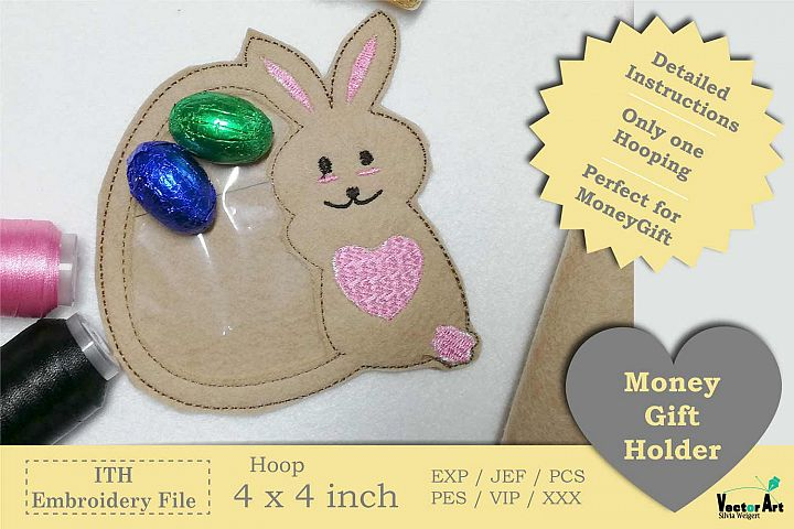 ITH - Bunny with Egg - Great Idea for Money Gifts