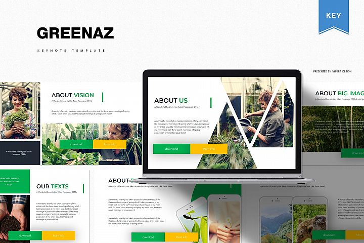 Greenaz | Powerpoint, Keynote, GoogleSlides Template