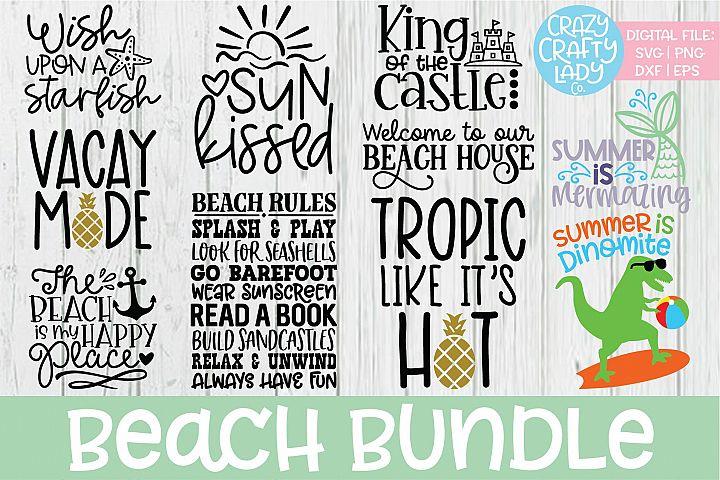 Beach SVG DXF EPS PNG Cut File Bundle