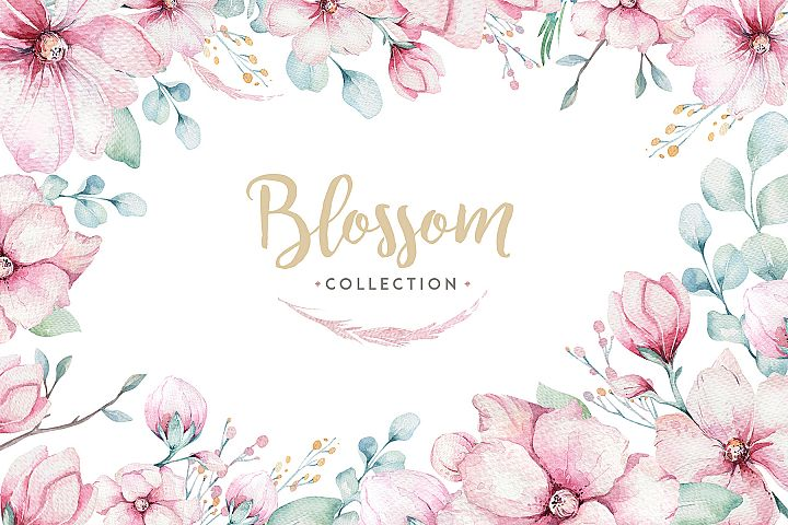 Spring blossom collection.