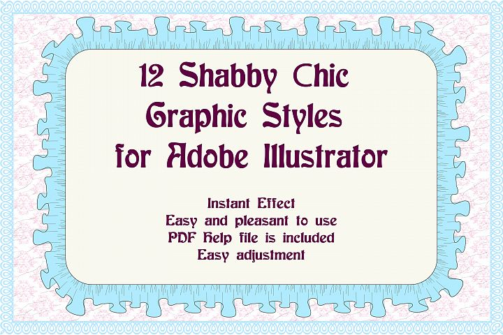 12 Shabby Chic Adobe Illustrator Graphic Styles