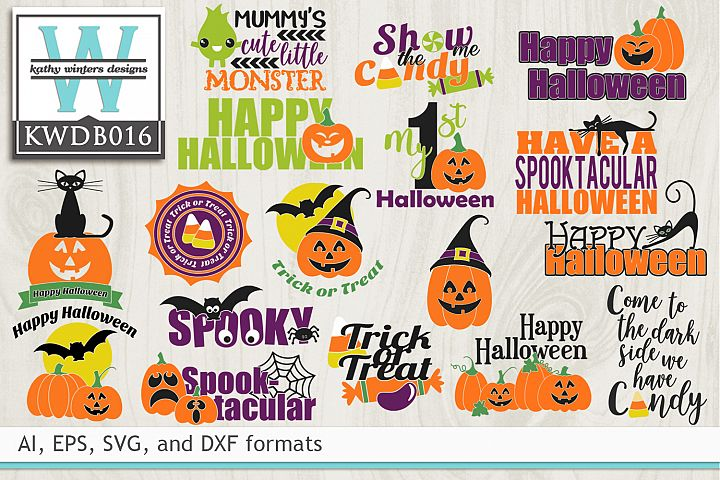 BUNDLED Halloween Cutting Files KWDB016