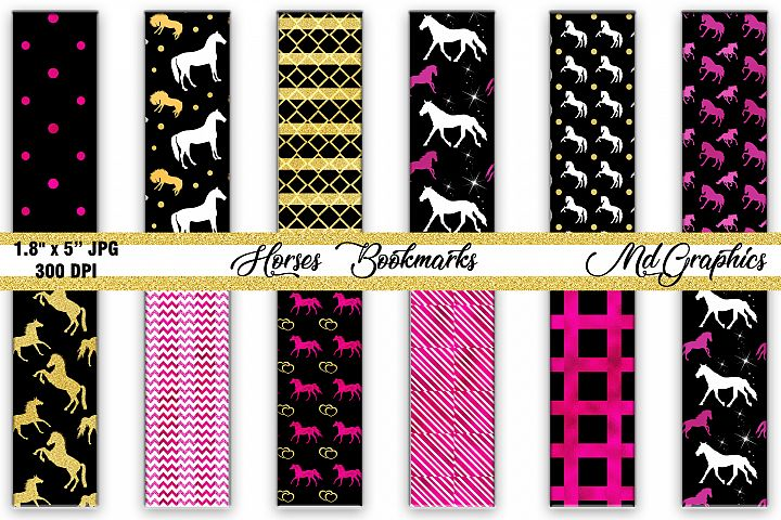 Horses Digital Bookmarks, Bookmarks Digital Download, Horses