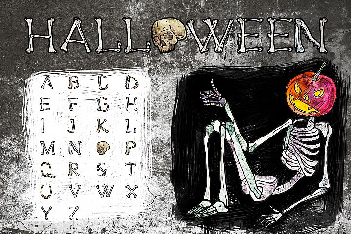Skulls and Bones Horror set