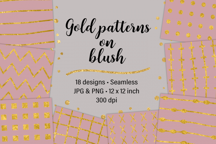 Gold Patterns on Blush