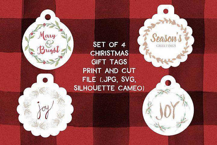 Print and cut Christmas Gift tags