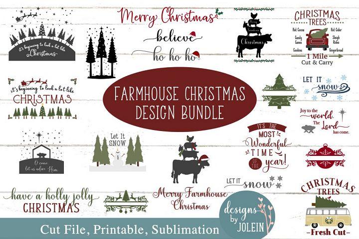 Farmhouse Christmas Bundle SVG, png, eps, sublimation, print