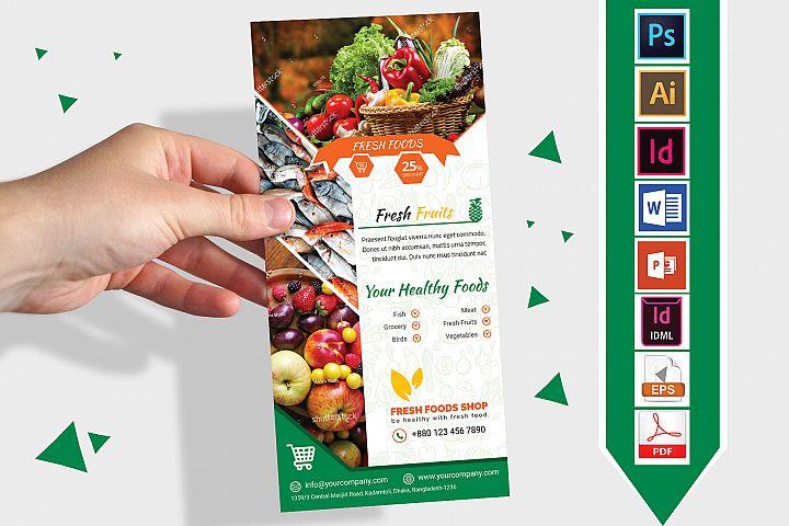 Rack Card | Fresh Food DL Flyer Vol-03