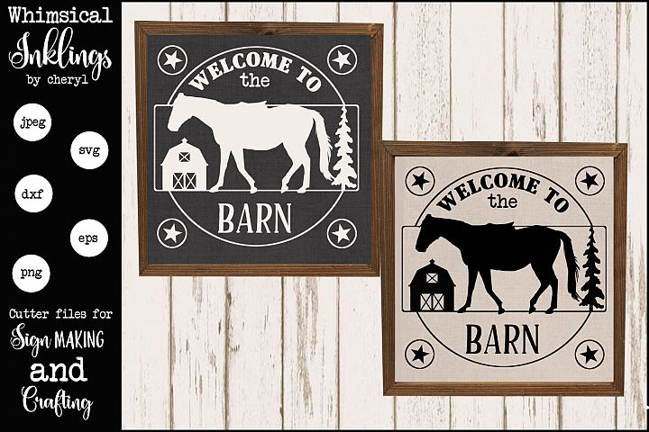 The Horse Barn SVG