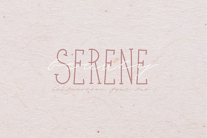 Serene Beauty Handwritten Font Duo