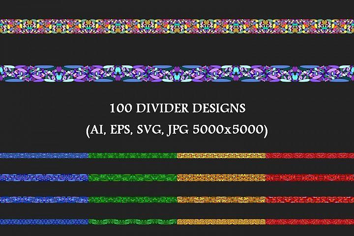 100 Stone Mosaic Dividers - AI, EPS, SVG, JPG