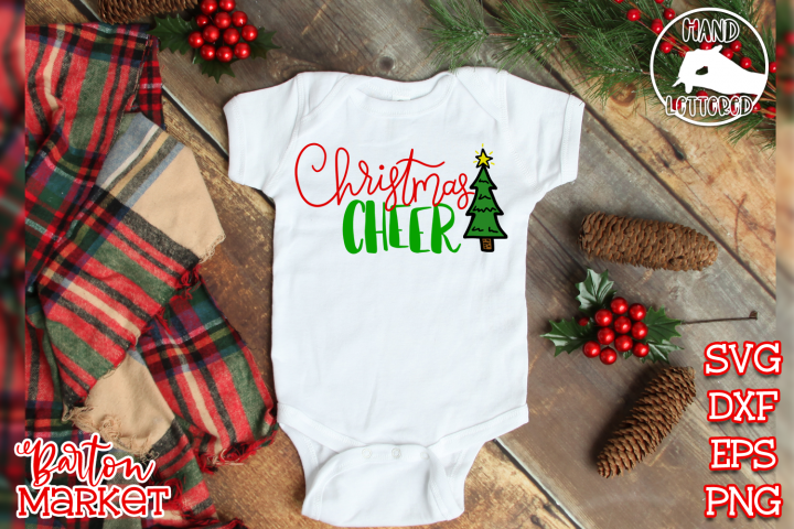 Handlettered Christmas Cheer SVG DXF EPS PNG