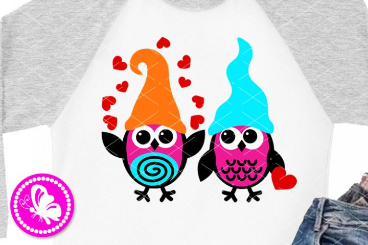 Cute Owl svg Hearts sign Nursery clip art Love shirt Owls