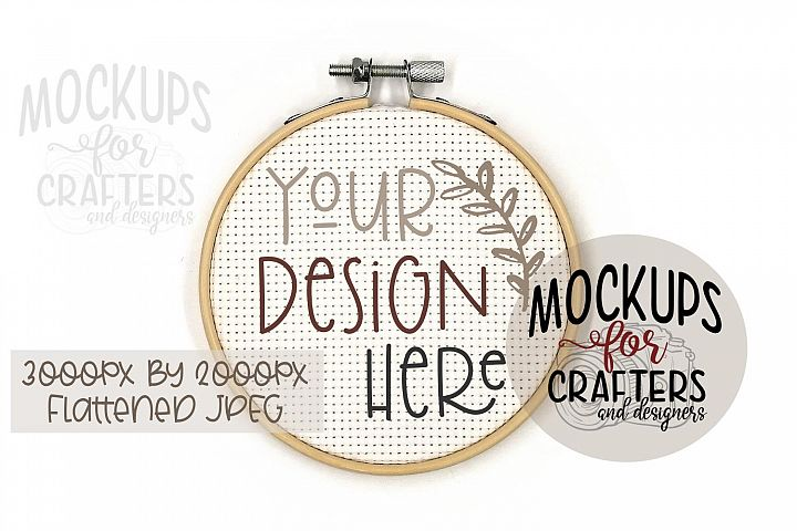 Cross Stitch, Embroidery, Hoop MOCK-UP, Crafts, Hobbies,