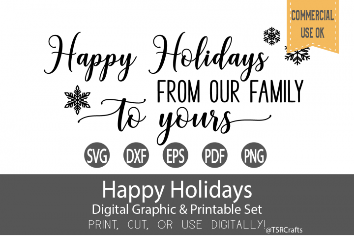 Happy Holidays from our family to yours - digital design