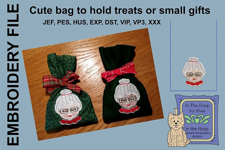 ITH Mrs Santa Treat Bag or Small Gift Bag