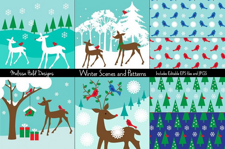 Winter Scenes and Patterns