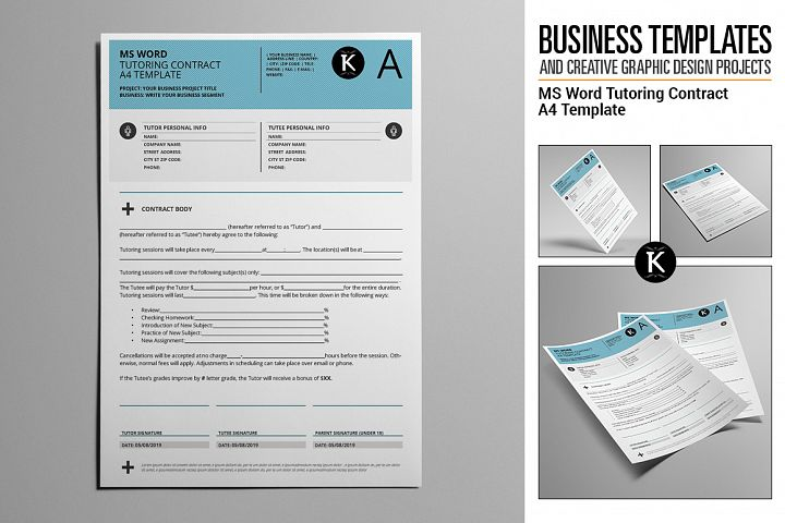 Commercial Tutoring Contract Template Products Design Bundles - Tutoring contract template