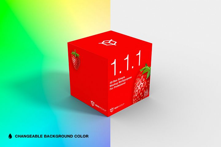 1.1.1 Simple 3D Box Mockup PSD