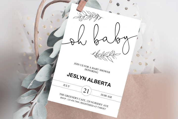 Baby Shower Invitation, Baby Shower, Invitations Template
