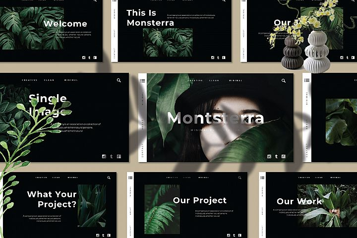 Monsterra Powerpoint Template