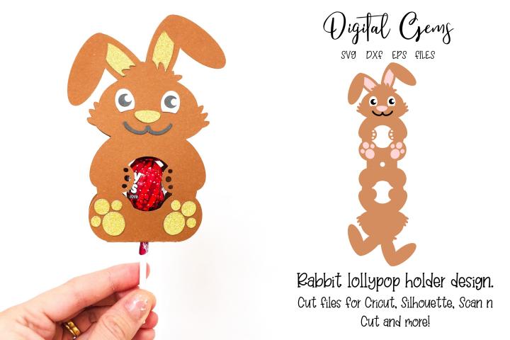 Rabbit lollipop holder design SVG / DXF / EPS files