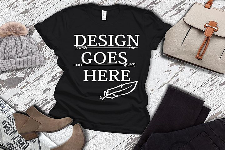 Adult T-Shirt/ T-Shirt Mock-up, Bella Canvas T-Shirts/