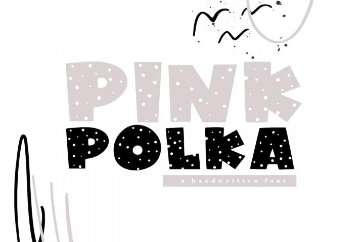 Pink Polka - A Bold Polka Dot Font