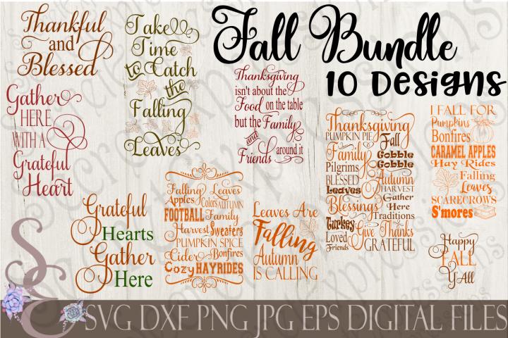 Fall SVG Bundle 10 Designs