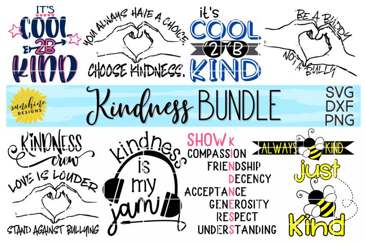 KINDNESS BUNDLE   ANTI-BULLYING   10 DESIGNS   SVG DXF PNG