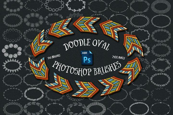 Doodle Oval Photoshop Brushes