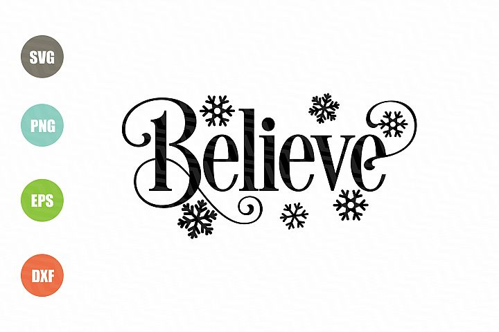 Believe SVG Christmas SVG Design