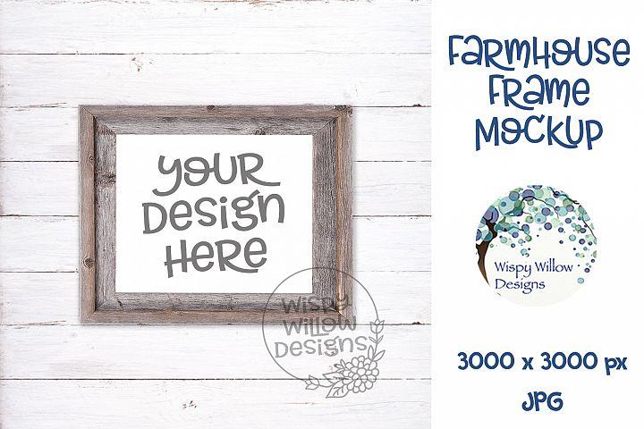 8x10 Horizontal Farmhouse Photo Frame Mockup
