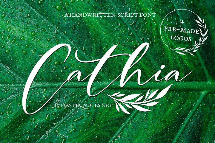 Cathia Script Font & Logos