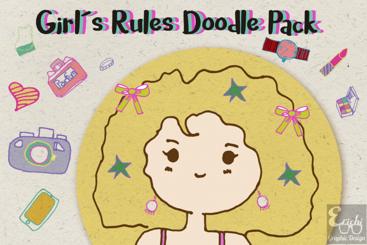 Girls Rules Doodle Pack