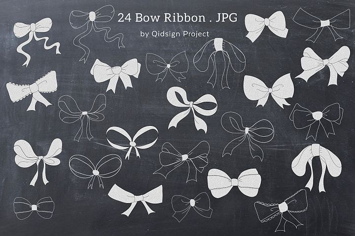 Chalk Bow Clipart PNG