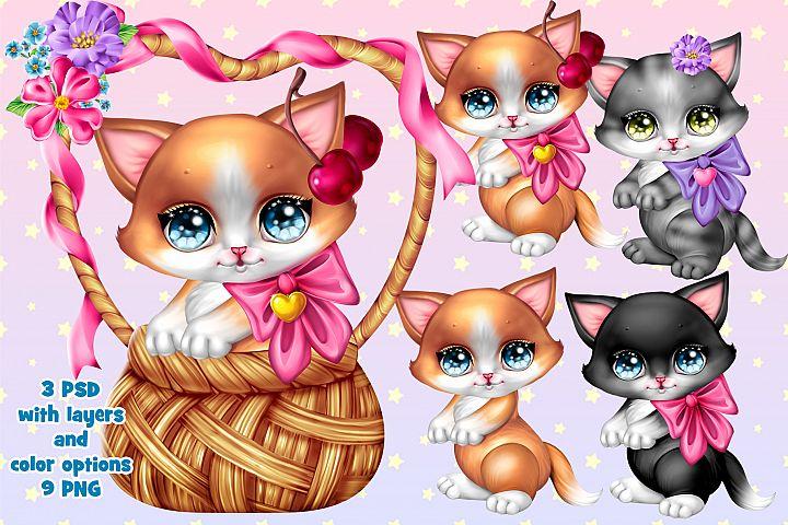 Kitty in basket