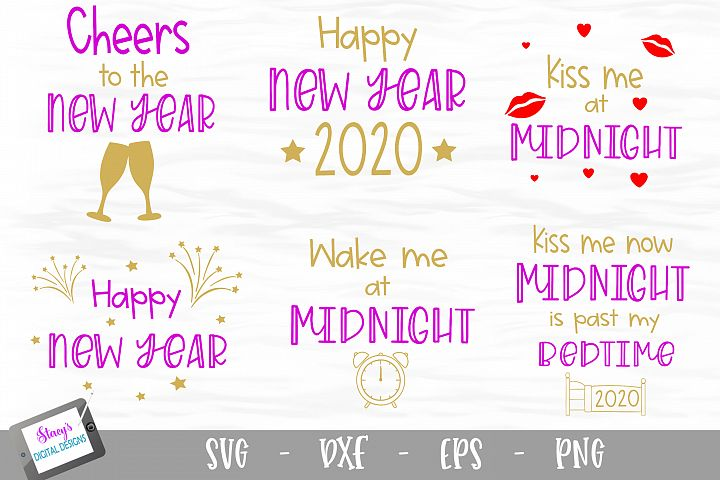 New Year SVG Bundle - Includes 6 SVG files
