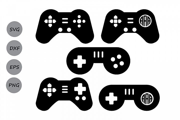 Game Controller SVG, Game Controller Monogram SVG, Game SVG.