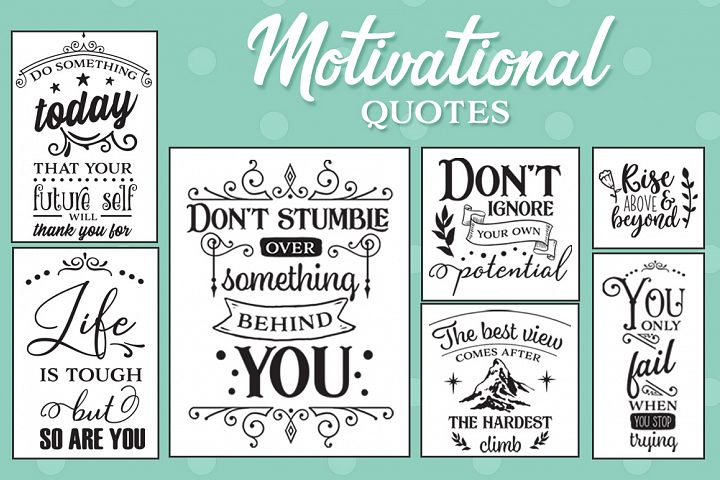 Motivational Quotes SVG Pack