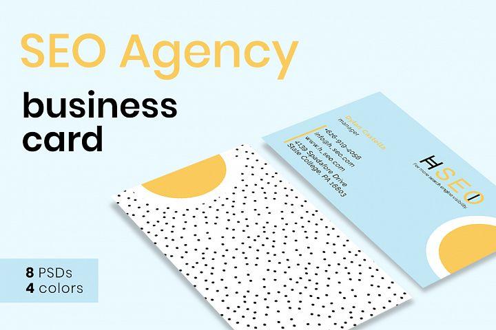SEO Agency Business Card Templates