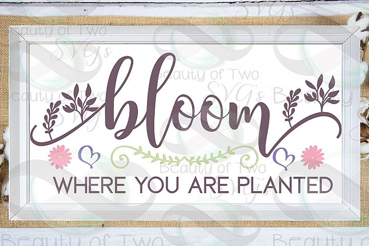 Bloom where you are planted svg, Spring svg, Gardener svg