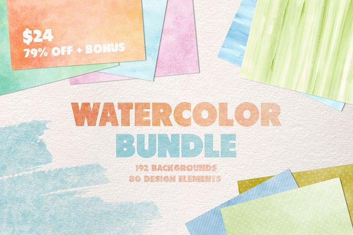 Watercolor Texture Bundle + Bonus