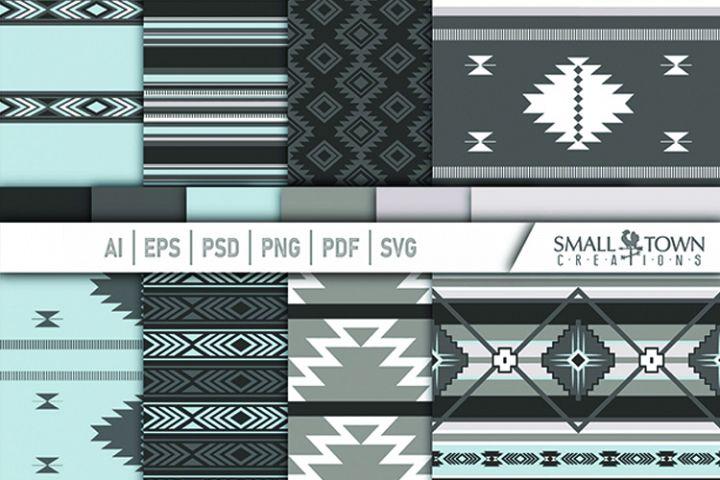 TRIBAL pattern, Aztec, Native American, PRINT, CUT & DESIGN
