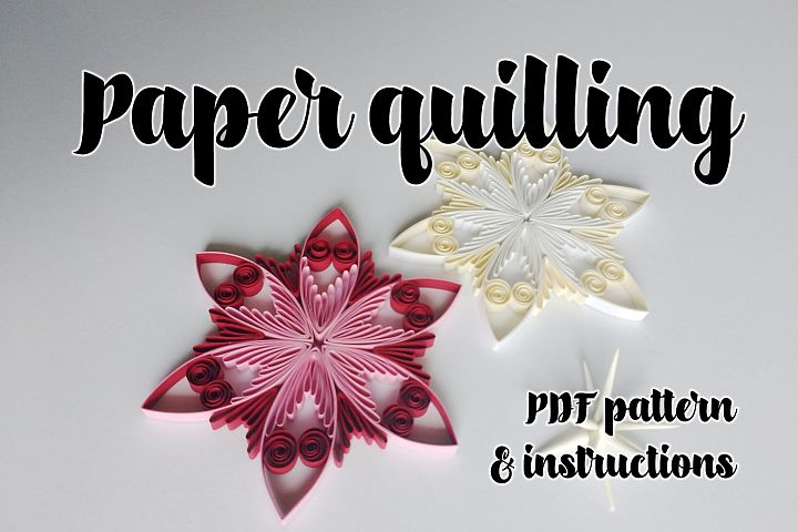 Quilling pattern & step-by-step diagram guided tutorial  (QD13)