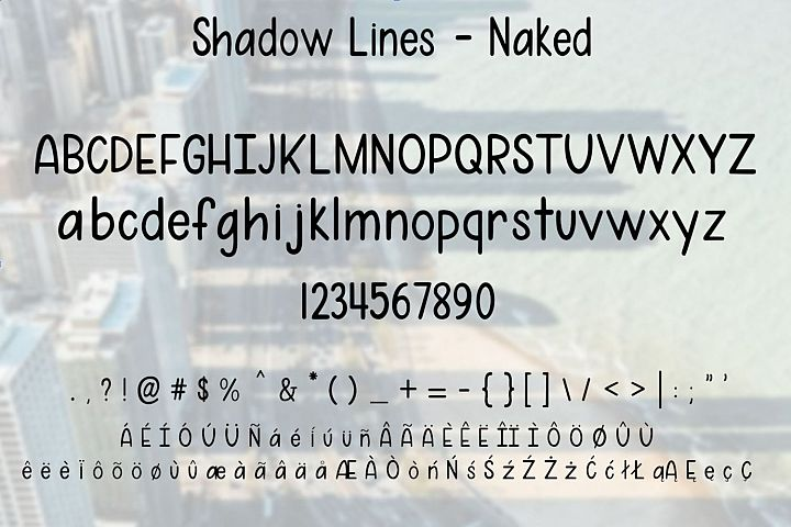 Shadow Lines - A fun font duo with and without shadow lines - Free Font of The Week Design 4